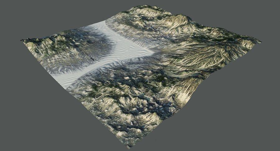 Трава и каменная местность royalty-free 3d model - Preview no. 5