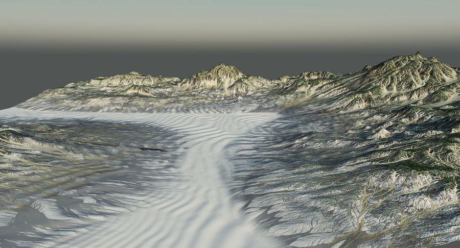 Трава и каменная местность royalty-free 3d model - Preview no. 11