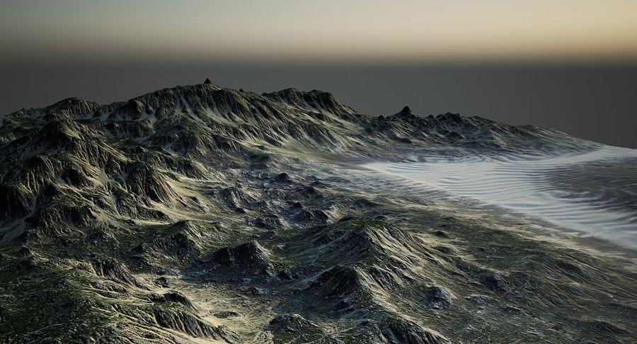 Трава и каменная местность royalty-free 3d model - Preview no. 12