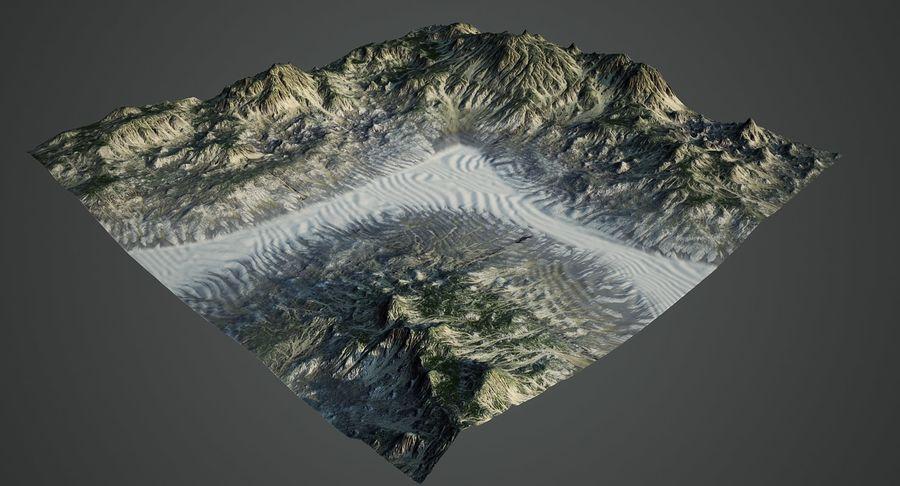 Трава и каменная местность royalty-free 3d model - Preview no. 4