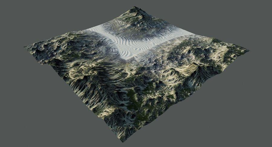 Трава и каменная местность royalty-free 3d model - Preview no. 6