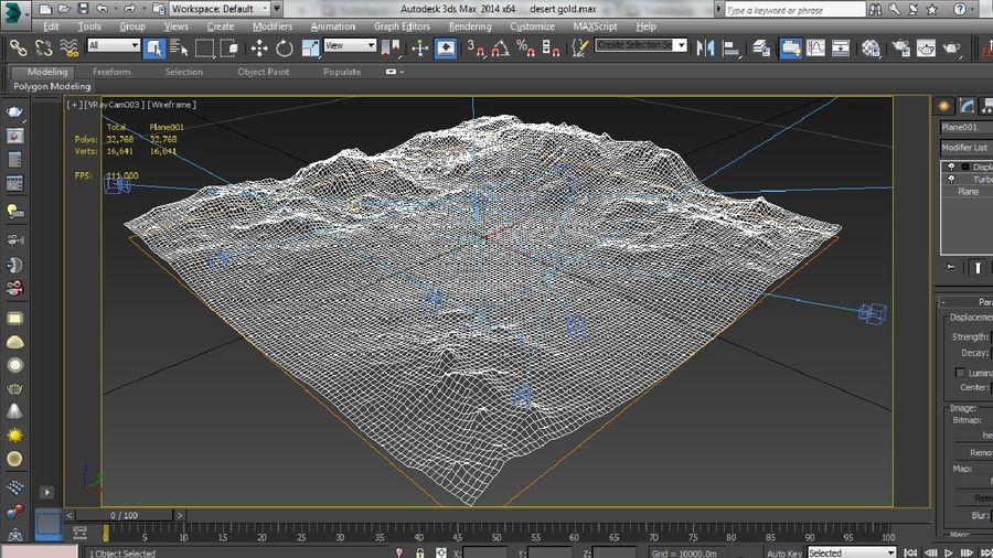 Трава и каменная местность royalty-free 3d model - Preview no. 19