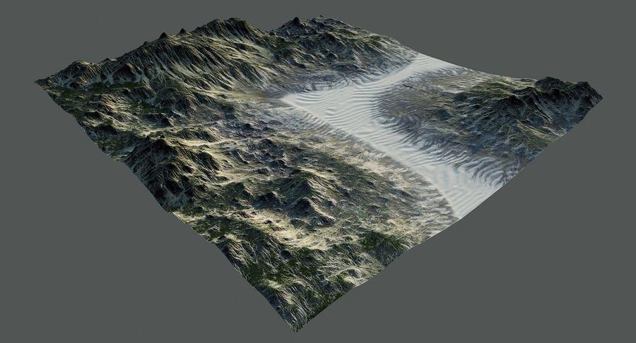 Трава и каменная местность royalty-free 3d model - Preview no. 7