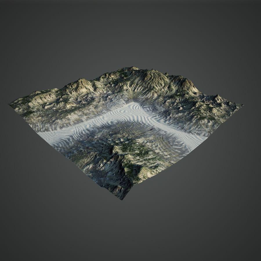 Трава и каменная местность royalty-free 3d model - Preview no. 2