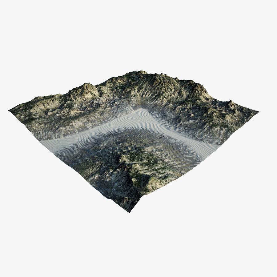 Трава и каменная местность royalty-free 3d model - Preview no. 1