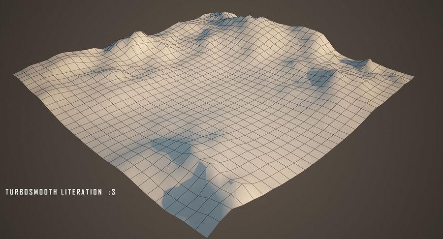Трава и каменная местность royalty-free 3d model - Preview no. 17