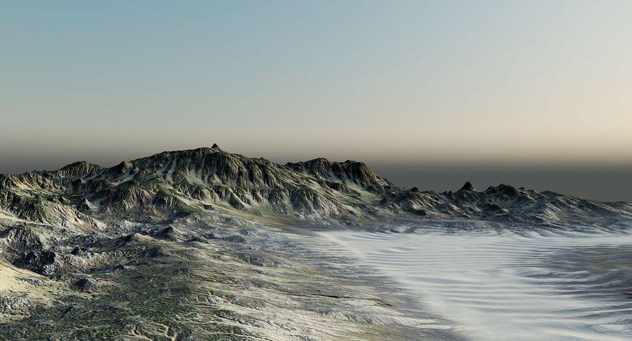 Трава и каменная местность royalty-free 3d model - Preview no. 9