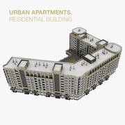Residential City Apartment House 3d model