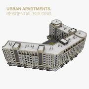 Жилой Город Жилой Дом 3d model