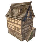middeleeuws huis 1 3d model