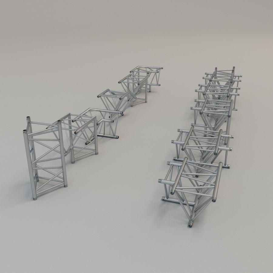 Triangular truss 52cm - corner set royalty-free 3d model - Preview no. 2