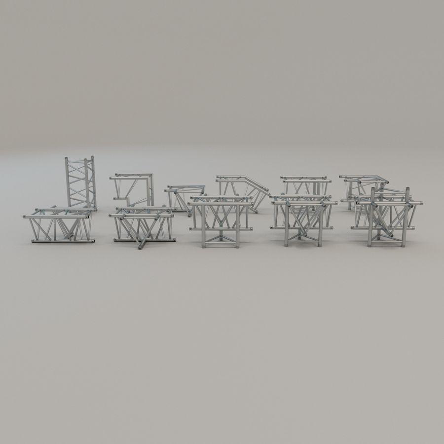 Triangular truss 52cm - corner set royalty-free 3d model - Preview no. 3
