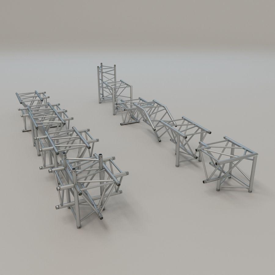 Triangular truss 52cm - corner set royalty-free 3d model - Preview no. 1