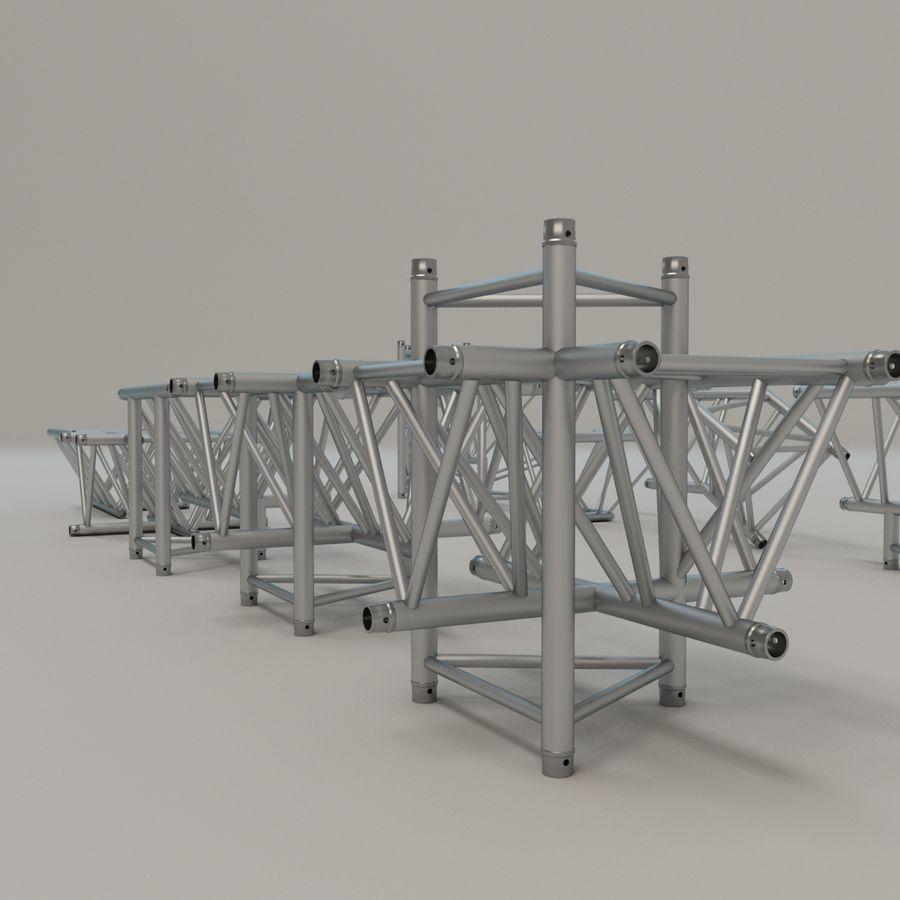 Triangular truss 52cm - corner set royalty-free 3d model - Preview no. 5
