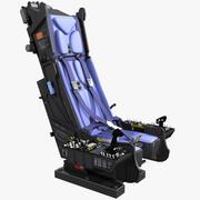 Fotel wyrzutowy z tablicami wskaźników 3d model