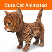 kitten cat animated 3d model