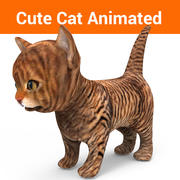 고양이 고양이 애니메이션 3d model
