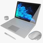 Microsoft Surface Book 2 13,5 дюйма (анимированный) 3d model