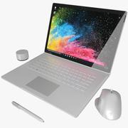 Microsoft Surface Book 2 15 дюймов (анимированный) 3d model