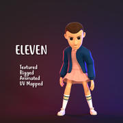 3D Character Girl - Eleven (Stranger Things) 3d model