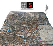 Industrial Debris Ground 3d model