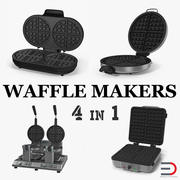 Waffle Makers 3D Models Collection 3d model