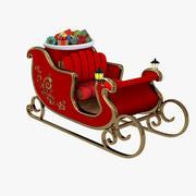 Sankt Pferdeschlitten 3d model