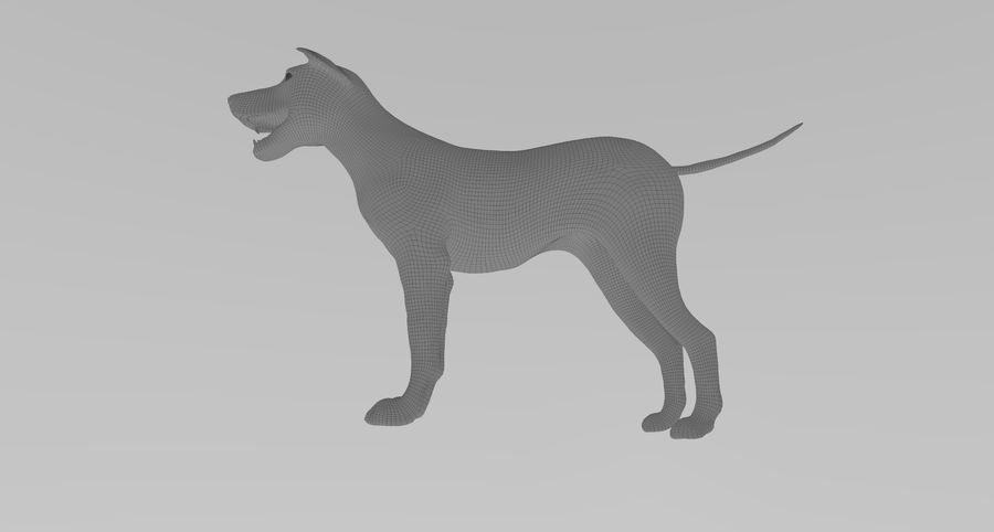 Greyhound Character royalty-free 3d model - Preview no. 13