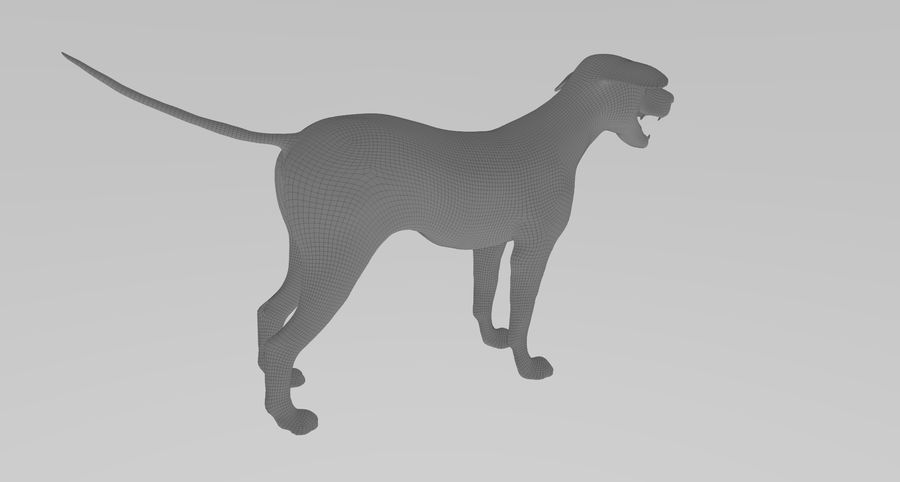 Greyhound Character royalty-free 3d model - Preview no. 11