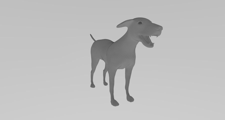 Greyhound Character royalty-free 3d model - Preview no. 10