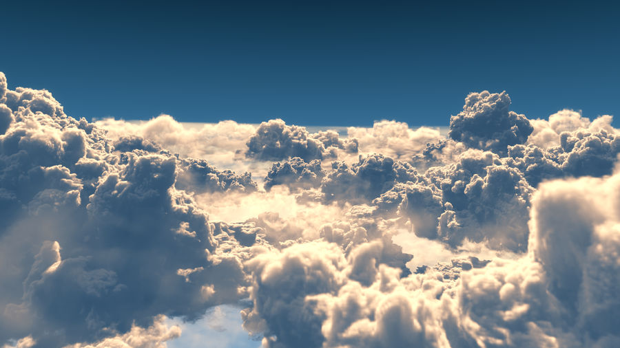 Clouds 3D royalty-free 3d model - Preview no. 2