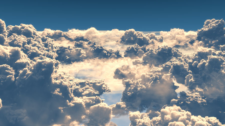Clouds 3D royalty-free 3d model - Preview no. 3