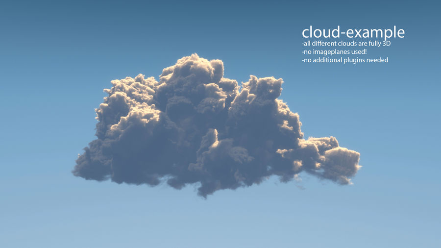 Clouds 3D royalty-free 3d model - Preview no. 4
