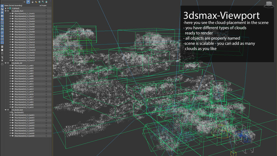 Clouds 3D royalty-free 3d model - Preview no. 5
