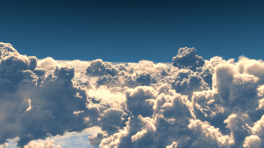 Clouds 3D royalty-free 3d model - Preview no. 1