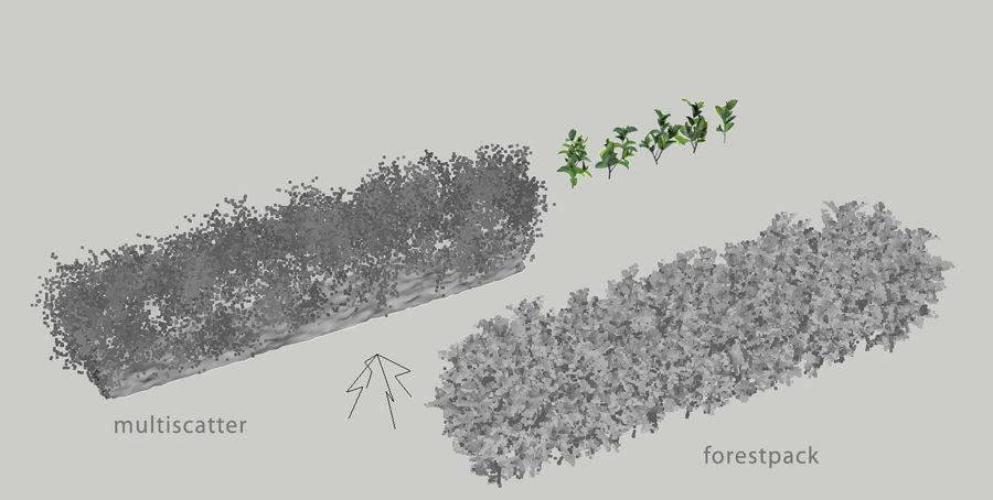 Coleção de sebes e arbustos (10 em 1) royalty-free 3d model - Preview no. 14