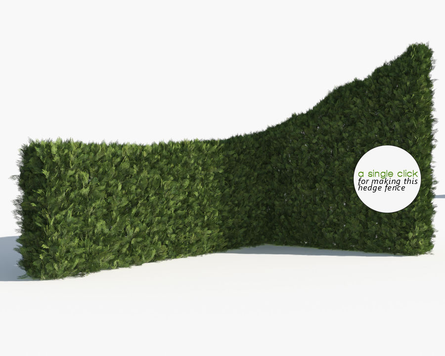 Coleção de sebes e arbustos (10 em 1) royalty-free 3d model - Preview no. 24
