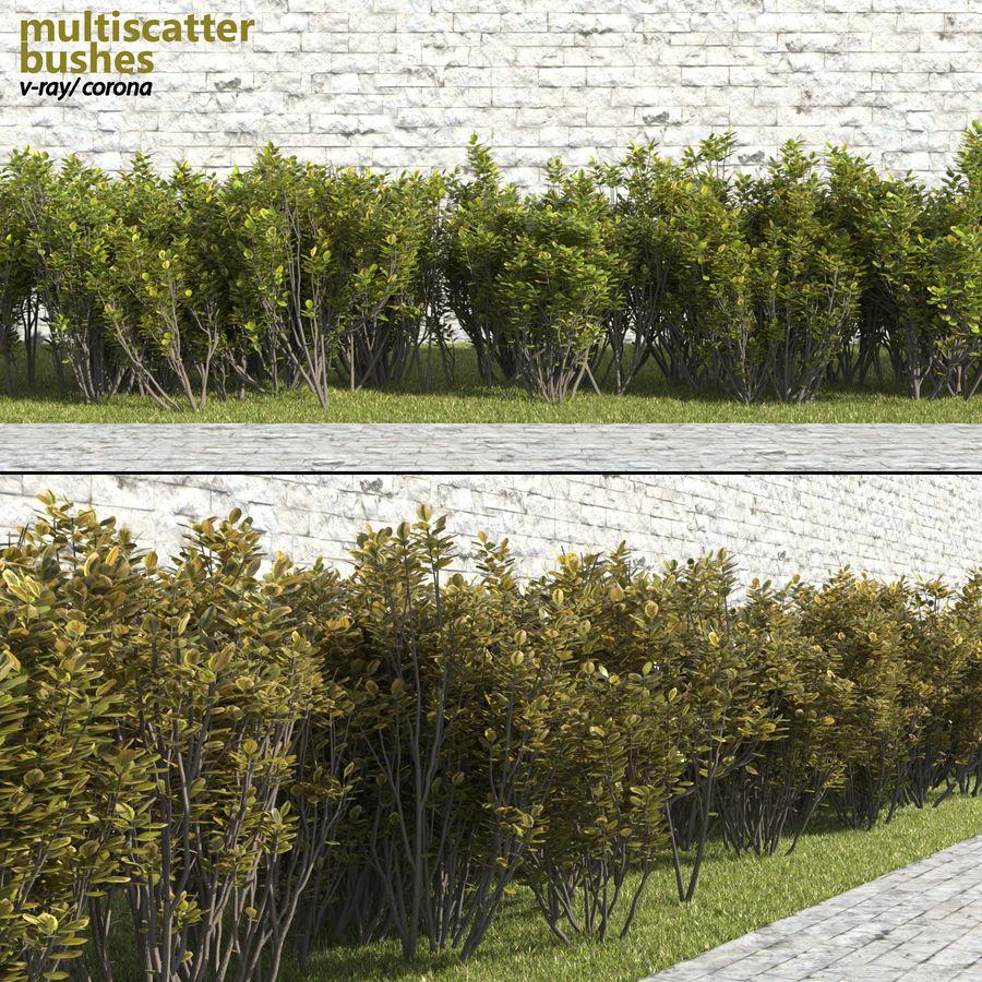 Coleção de sebes e arbustos (10 em 1) royalty-free 3d model - Preview no. 8