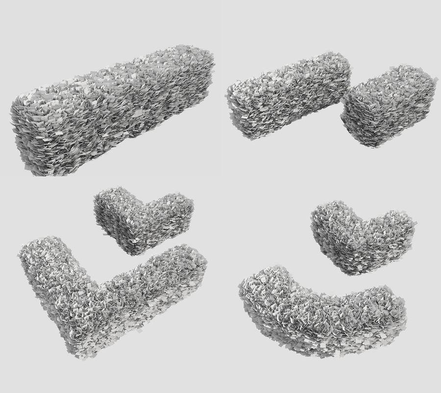 Coleção de sebes e arbustos (10 em 1) royalty-free 3d model - Preview no. 43