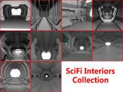 Scifi-interieurscollectie 3d model