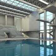 体育中心 3d model