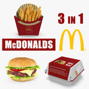 McDonalds Food 3D Models Collection 3d model