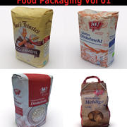 Food Packaging Collection 01 3d model