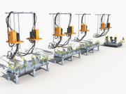 Hoisting welding production line 3d model
