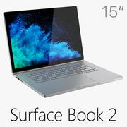 Microsoft Surface Book 2 15 дюймов 3d model
