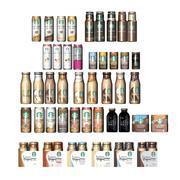 Starbucks bottles and cans 3d model