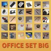Conjunto de oficina grande modelo 3d