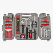 Juego de herramientas de precisión fotorrealista para el hogar con llaves, alicates, destornillador, trinquete, trinquete modelo 3d