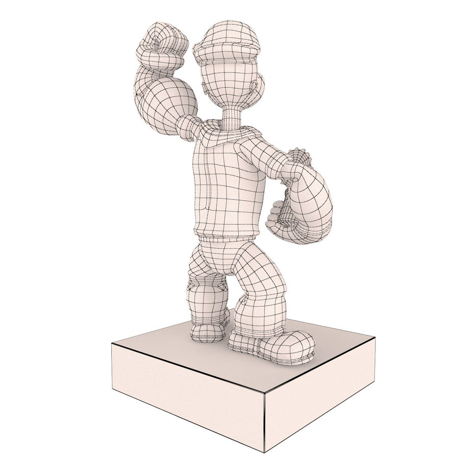 Scultura popeye Jeff Koons royalty-free 3d model - Preview no. 8