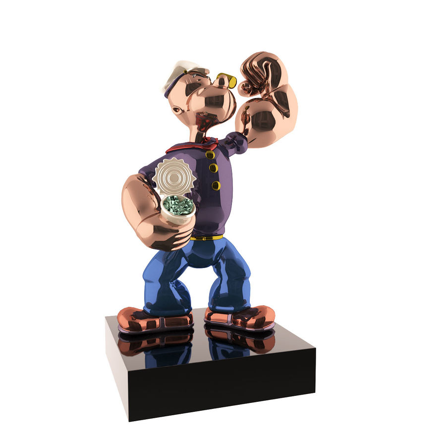 Scultura popeye Jeff Koons royalty-free 3d model - Preview no. 1